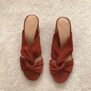 Madewell. Sari Crisscross Sandal. Warm Nutmeg.